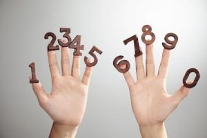 dedos con números